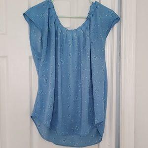 Light blue lightweight blouse